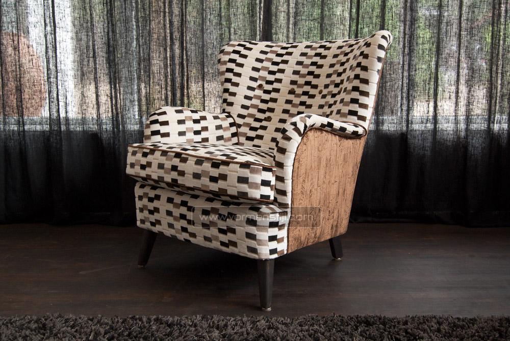 Exclusieve art deco fauteuils bekleed met chivasso stoffering - Moderne stoffering ...