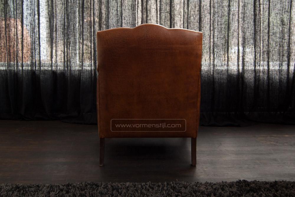 Engelse oude art deco fauteuil in dik antique schaapsleer nieuwstaat amsterdam - Moderne oude deco ...