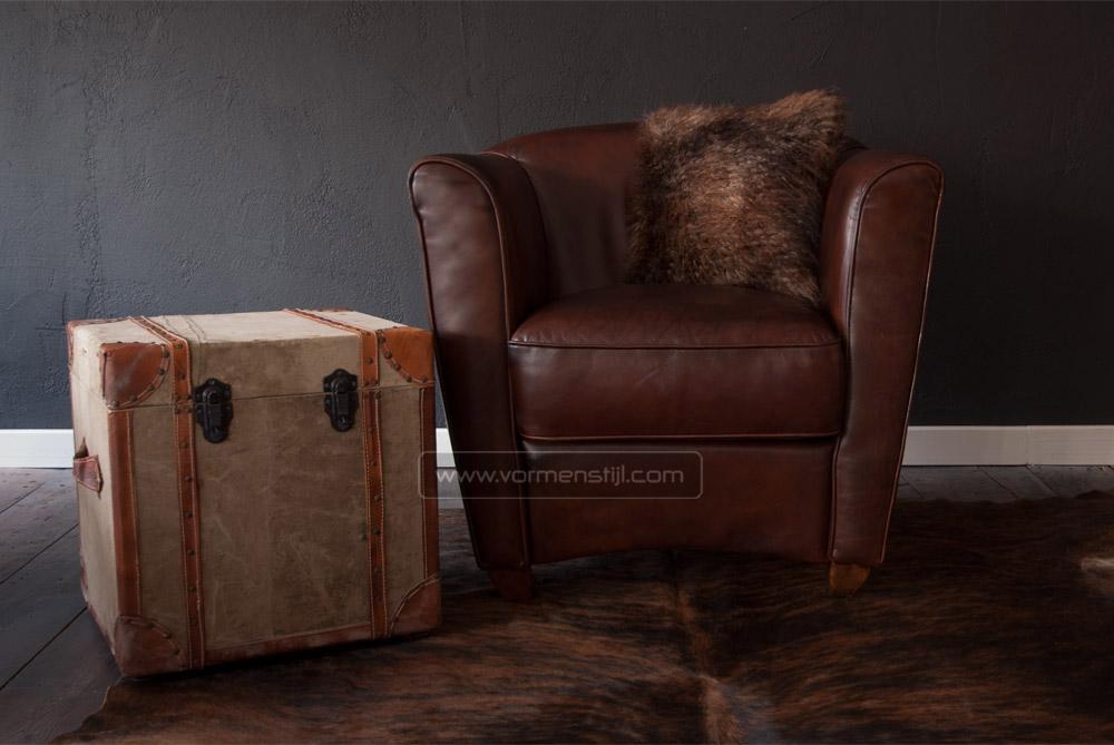 Mooie nicoletti design fauteuils in dik waxed zadeleer kampen - Mooie fauteuil ...