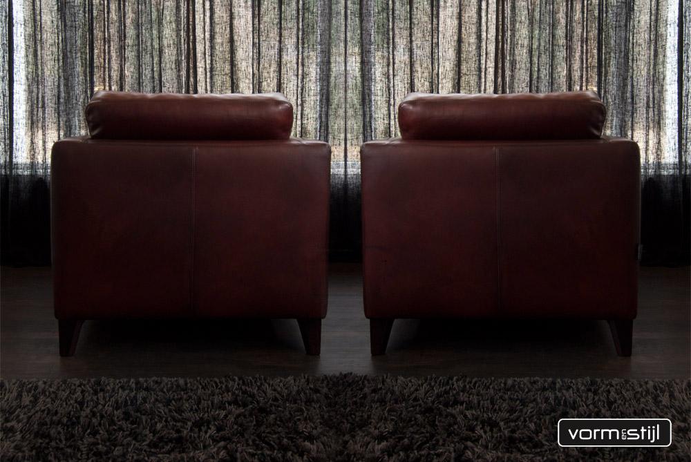Mooie linteloo machalke design fauteuil in superdik gewaxed zadelleer - Mooie fauteuil ...