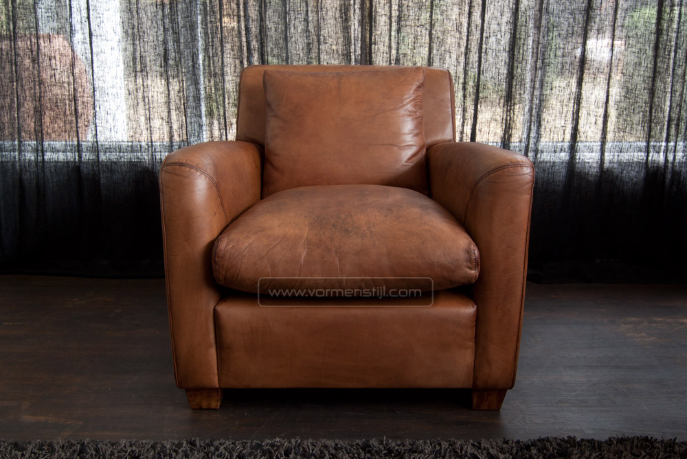 Armchair Linteloo Type Marconi In Thick Waxed Natural