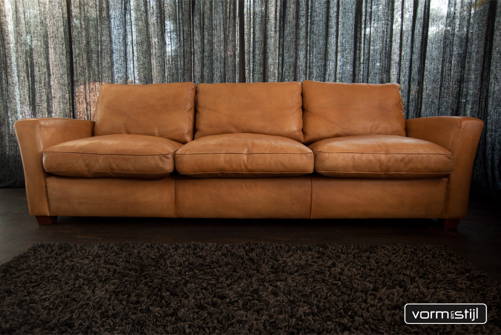 xxl 4zits linteloo machalke designer sofa in nature really waxed saddle leather. Black Bedroom Furniture Sets. Home Design Ideas