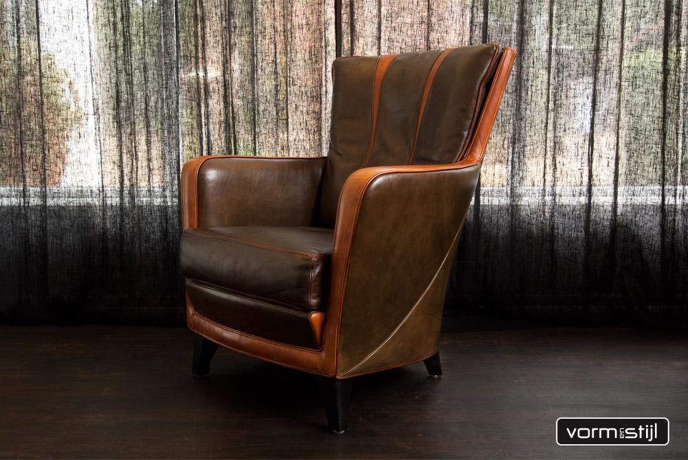 Waanzinnige mooie mol en geurts fauteuil in superdik stierenleer - Mooie fauteuil ...