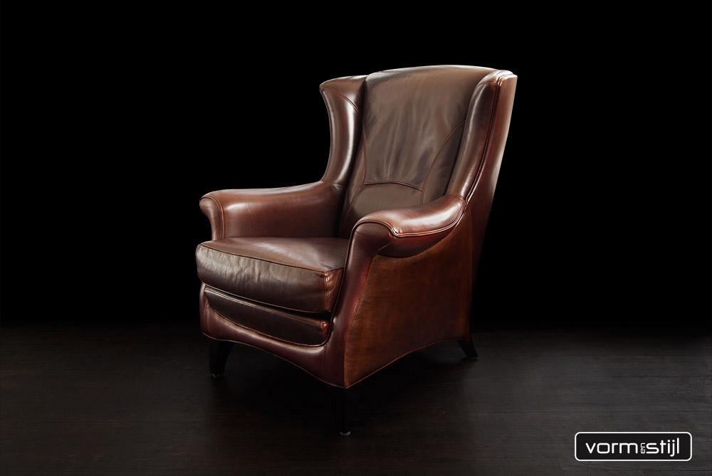 mol en geurts fauteuil art nouveau jugendstil in het dikste stierenleder bull leather. Black Bedroom Furniture Sets. Home Design Ideas