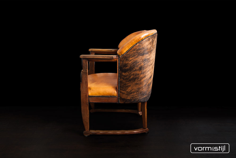 Zeldzaam mooie stijlzuivere amsterdamse school fauteuil 1910 1930 - Mooie fauteuil ...