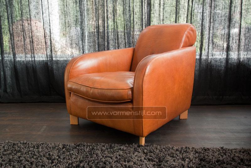 Molinari long stretcher design fauteuil in dik stierenleder - Fauteuil long design ...